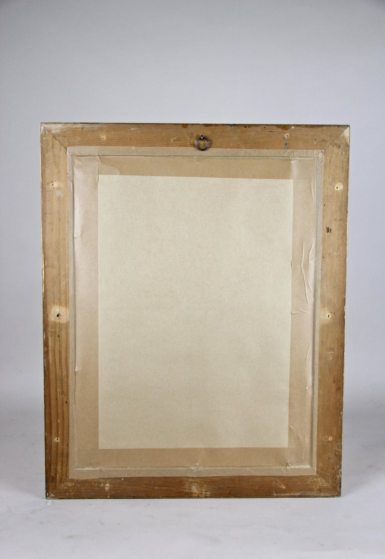 Gilt Biedermeier Wall Mirror, Austria, circa 1850 For Sale 11