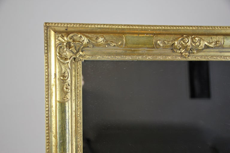 Austrian Gilt Biedermeier Wall Mirror, Austria, circa 1850 For Sale