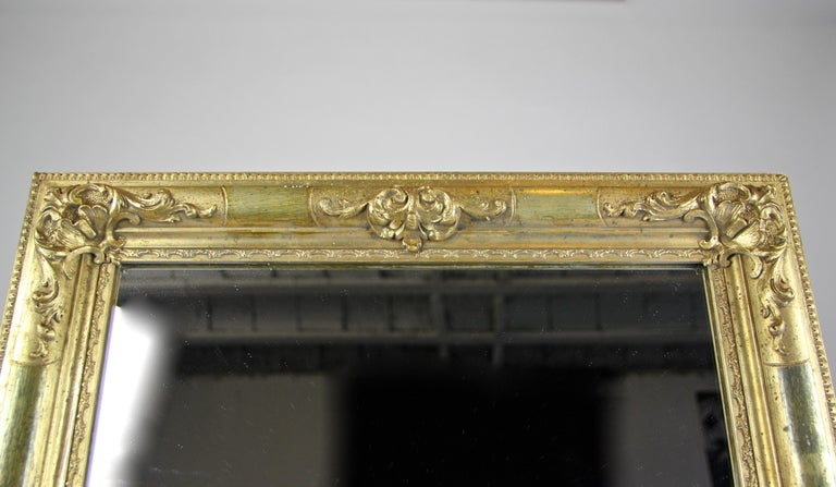 19th Century Gilt Biedermeier Wall Mirror, Austria, circa 1850 For Sale