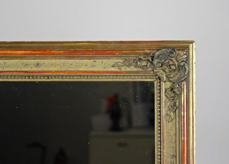 19th Century Gilt Biedermeier Wall Mirror, Austria, circa 1850 For Sale