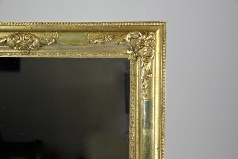 Stucco Gilt Biedermeier Wall Mirror, Austria, circa 1850 For Sale