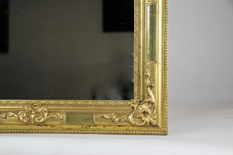 Gilt Biedermeier Wall Mirror, Austria, circa 1850 For Sale 1