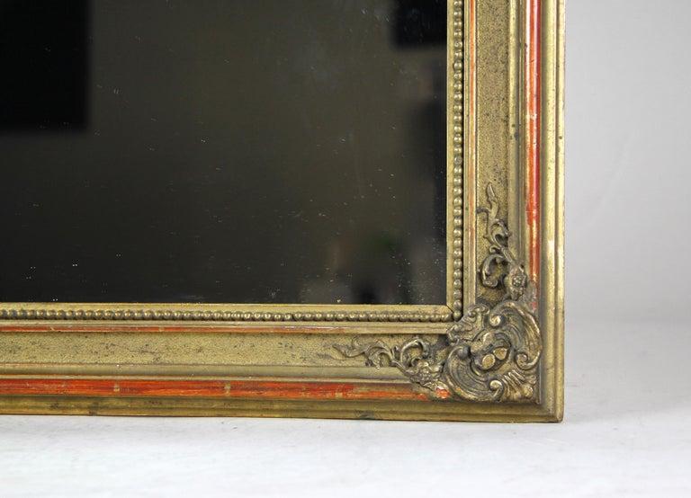 Gilt Biedermeier Wall Mirror, Austria, circa 1850 For Sale 1