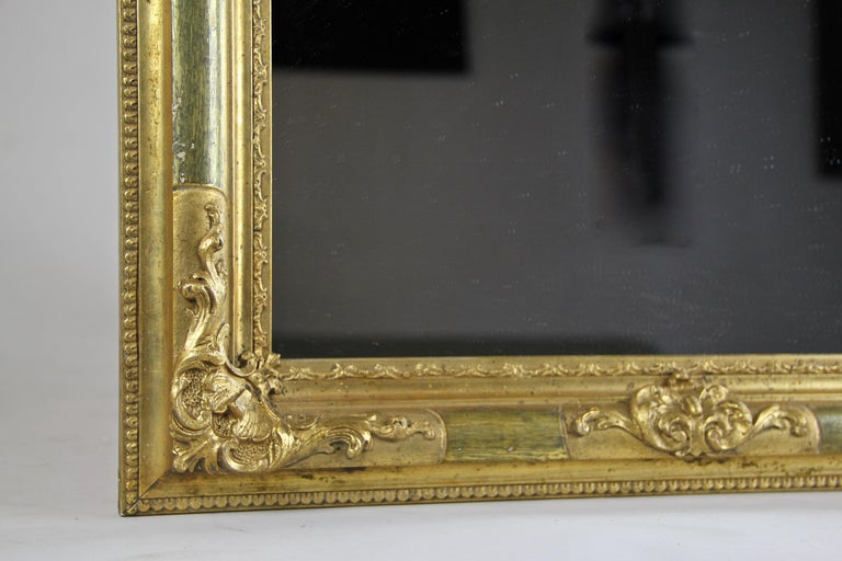 Gilt Biedermeier Wall Mirror, Austria, circa 1850 For Sale 3