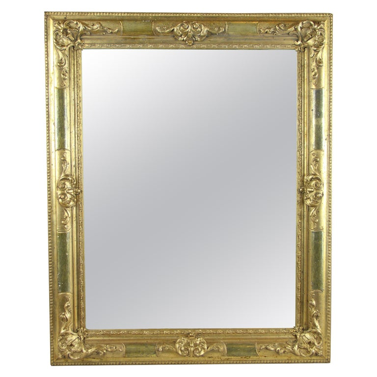 Gilt Biedermeier Wall Mirror, Austria, circa 1850 For Sale