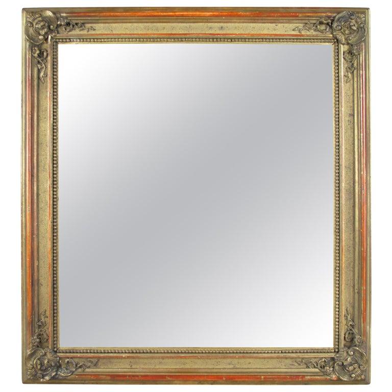 Gilt Biedermeier Wall Mirror, Austria, circa 1850 For Sale
