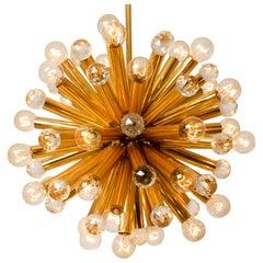 Gilt Brass Pendant Lamp with Swarovski Balls from Ernst Palme, 1960s