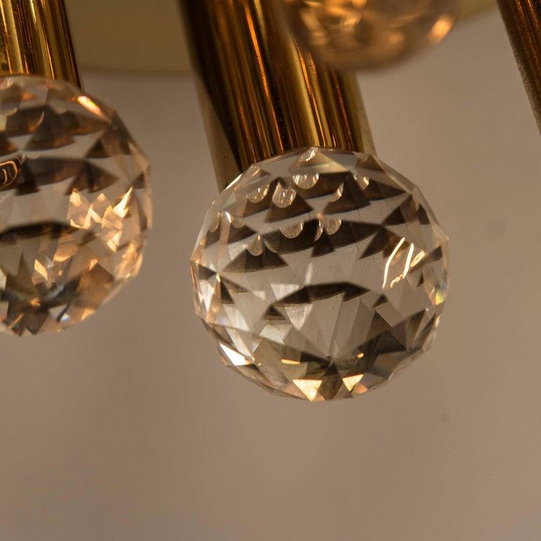 Gilt Brass Set with Swarovski Balls by Ernst Palme for Palwa, 1960s For Sale 4