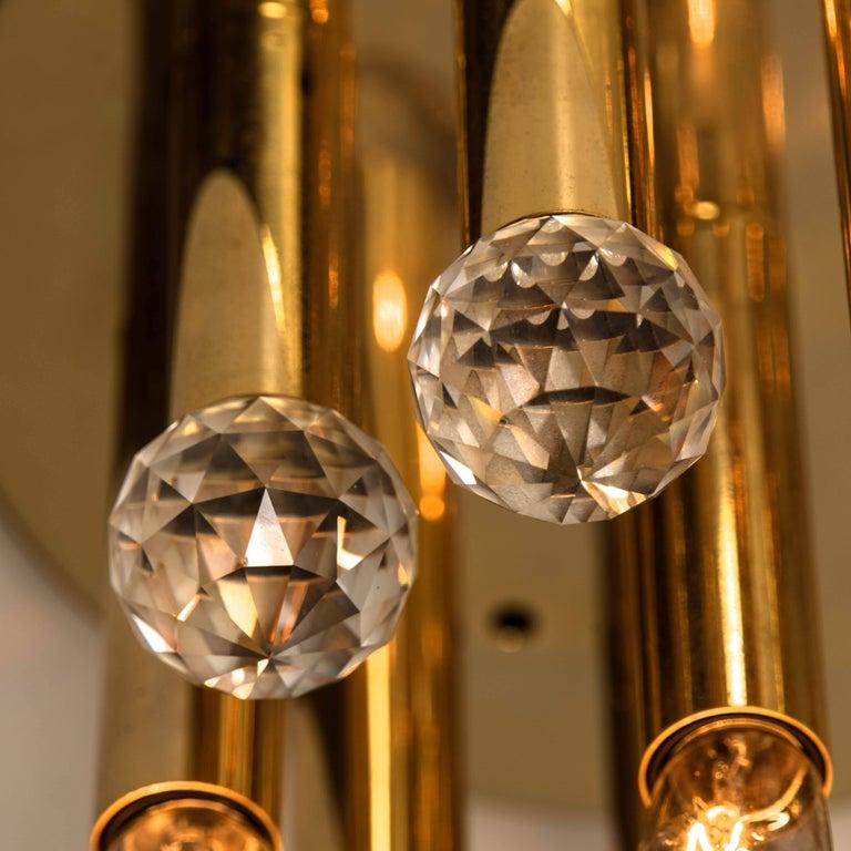 Gilt Brass Set with Swarovski Balls by Ernst Palme for Palwa, 1960s For Sale 7