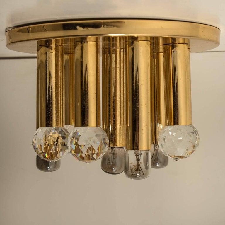 Gilt Brass Set with Swarovski Balls by Ernst Palme for Palwa, 1960s For Sale 8