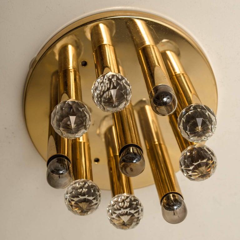 Gilt Brass Set with Swarovski Balls by Ernst Palme for Palwa, 1960s For Sale 9