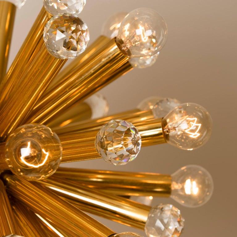Gilt Brass Set with Swarovski Balls by Ernst Palme for Palwa, 1960s For Sale 2