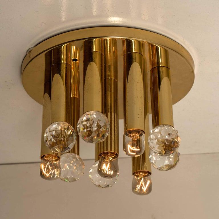 Gilt Brass Set with Swarovski Balls by Ernst Palme for Palwa, 1960s For Sale 3