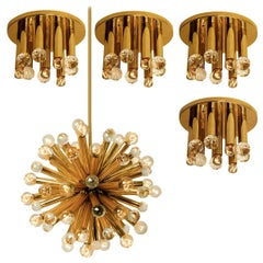 Gilt Brass Set with Swarovski Balls by Ernst Palme for Palwa, 1960s