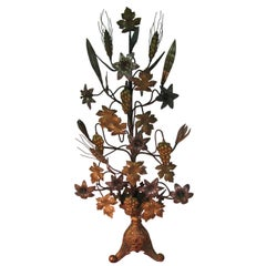 Victorian Gilt Brass with Tin Metal Ornamental Tree