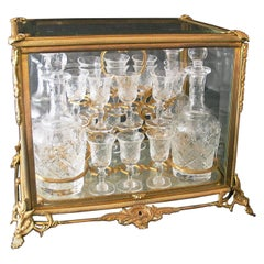 Gilt-Bronze and Cut-Glass Decanter Set by Baccarat