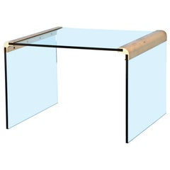 Gilt Bronze and Glass Side Table by Pace Collection