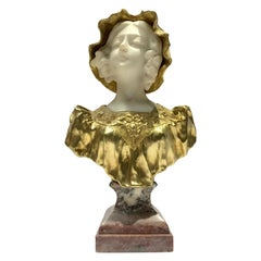 Gilt Bronze and Marble Sculpture Signed Affortunato Gory, Louis XV Style