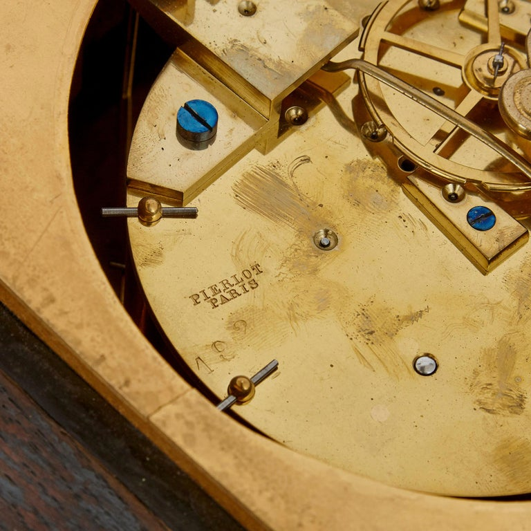 Gilt Bronze and Porcelain Clock and Barometer Set by Michel Balthazar For Sale 2
