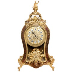 Gilt Bronze and Wood Table Clock, France, Late 19th Century