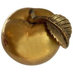 Gilt Bronze Apple Paper Weight