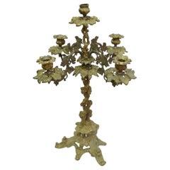 Gilt Bronze Baroque Candelabra, Mid-19th Century