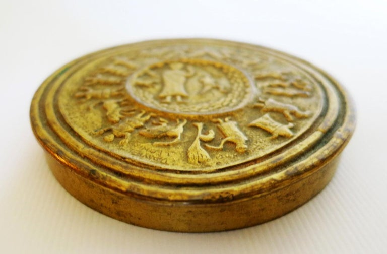 A gilt bronze box or podier by French Jeweler Line Vautrin, in the pattern of