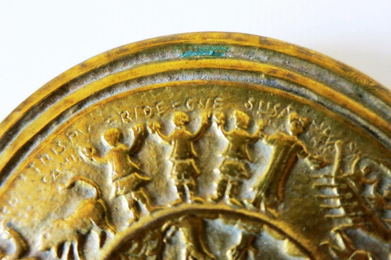 French Gilt Bronze Box by Line Vautrin For Sale