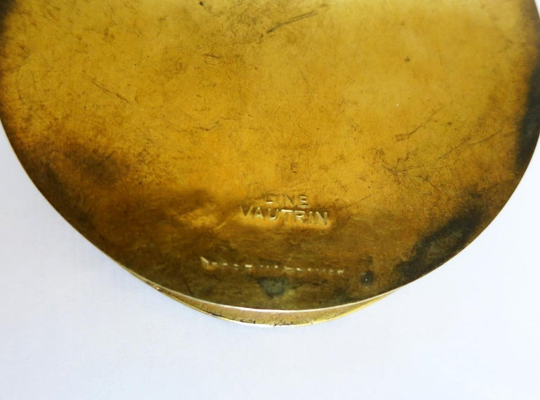 Gilt Bronze Box by Line Vautrin For Sale 2