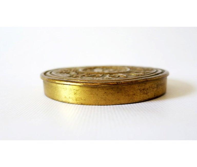 Gilt Bronze Box by Line Vautrin In Good Condition For Sale In Atlanta, GA
