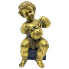 Gilt Bronze Boy Allegory of Geography, French, 18th Century