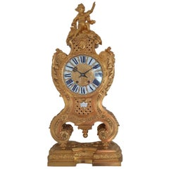 Gilt Bronze Clock by Crosnier À Paris