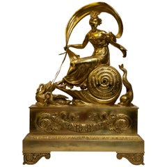 Gilt Bronze Empire Clock, circa 1830