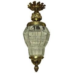 Gilt Bronze & Glass Versaille Lantern