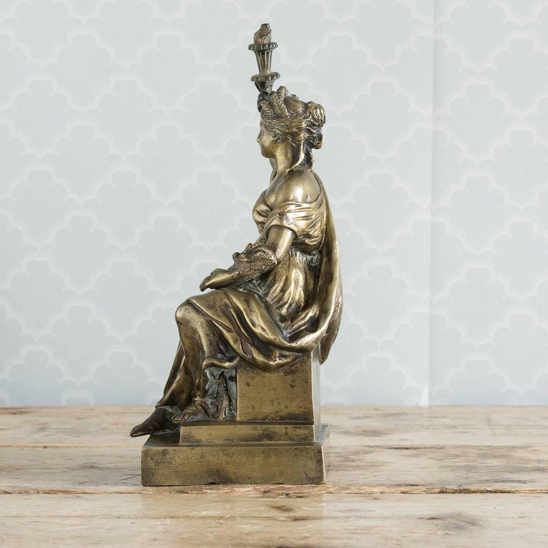 Classical Roman Gilt Bronze Model of Ceres For Sale