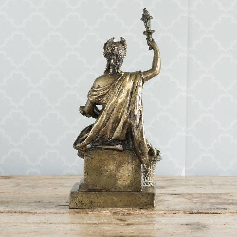 Italian Gilt Bronze Model of Ceres For Sale