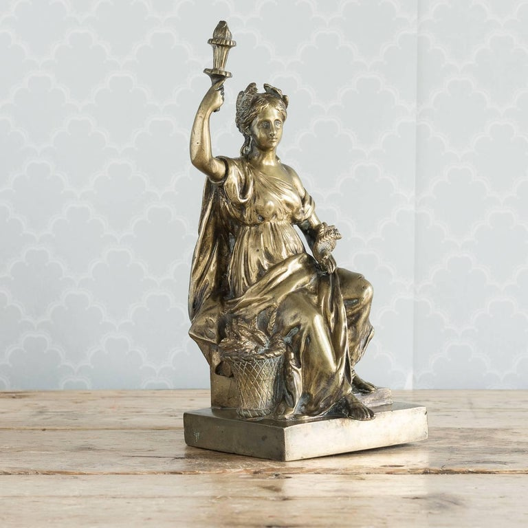 19th Century Gilt Bronze Model of Ceres For Sale