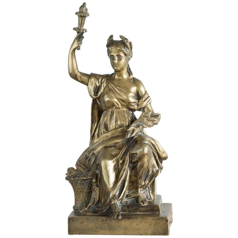 Gilt Bronze Model of Ceres For Sale