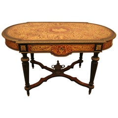 "Gilt Bronze-Mounted ""Boulle"" Marquetry Centre Table, Late 19th Century"