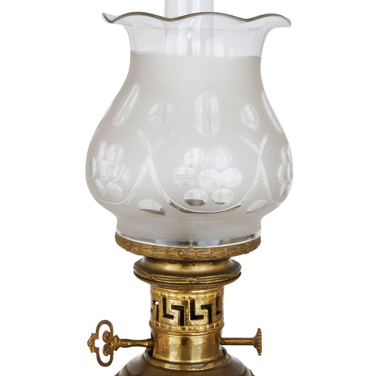 Gilt Bronze Mounted Chinese Canton Famille Rose Porcelain Lamps In Good Condition For Sale In London, GB