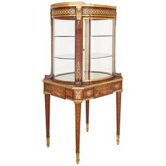 Gilt Bronze-Mounted Display Cabinet on Table