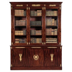 Gilt-Bronze Mounted Mahogany Empire Library Bookcase