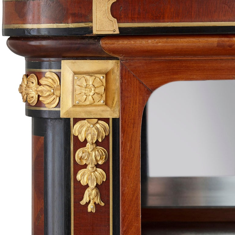 Gilt Bronze Mounted Mahogany Side Cabinet by Mercier Frères In Good Condition For Sale In London, GB