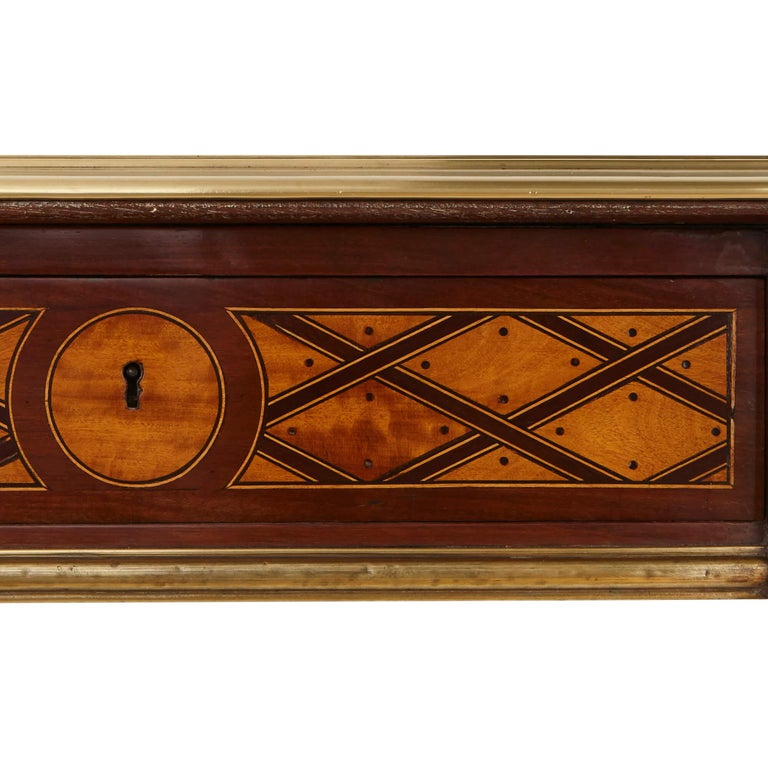 19th Century Gilt Bronze Mounted Parquetry Desk, Attributed to Donald Ross For Sale