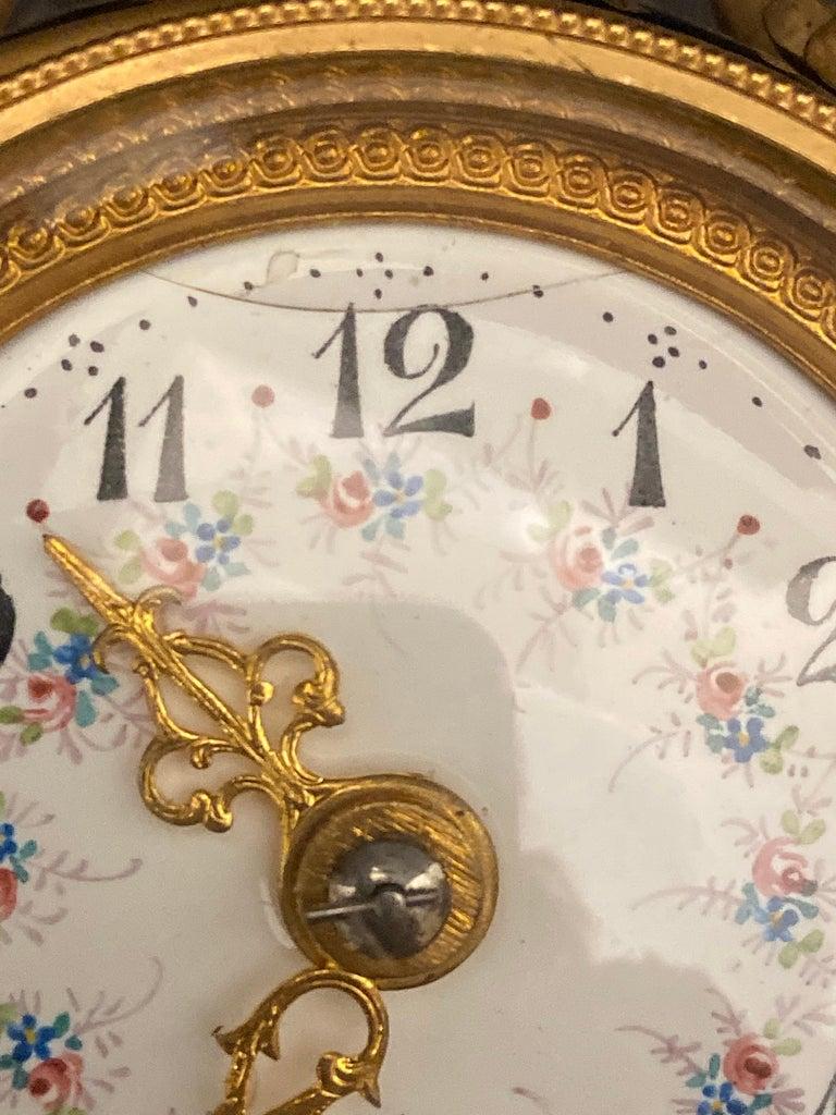 Gilt Bronze Mounted Porcelain Clock For Sale 3