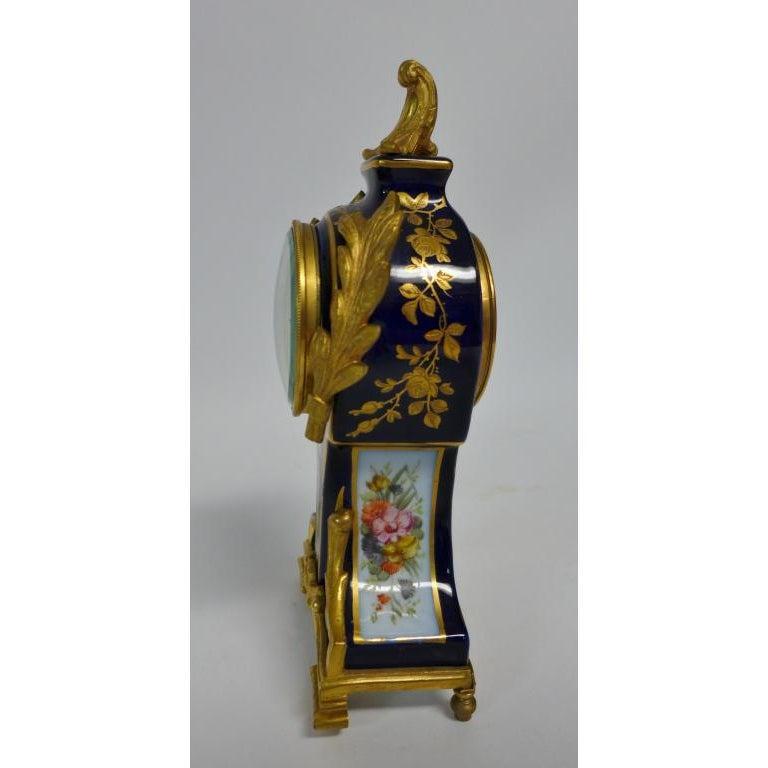 Louis XVI Gilt Bronze Mounted Porcelain Clock For Sale