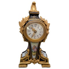 Gilt Bronze Mounted Porcelain Clock