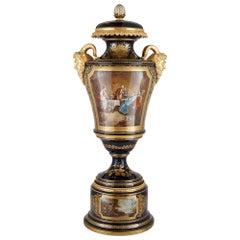 Gilt Bronze Mounted Porcelain Vase in the Manner of Sèvres