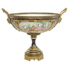 Gilt Bronze Mounted / Sevres Porcelain Centerpiece