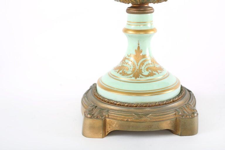 Gilt Bronze Mounted / Sevres Porcelain Covered Urn For Sale 2
